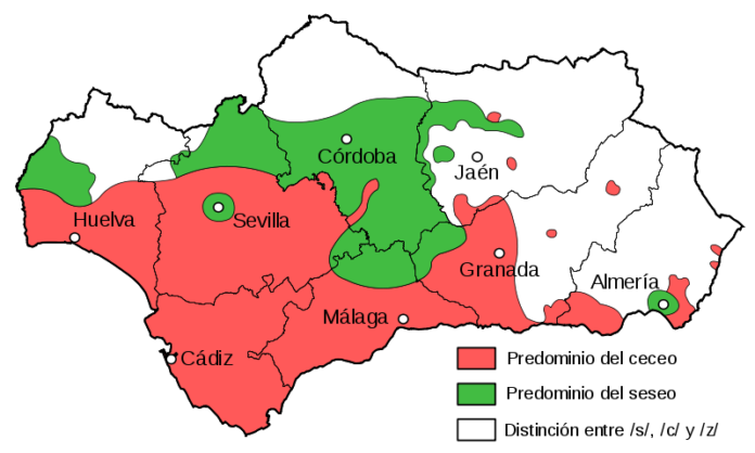 Andalucía ceceo y seseo